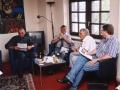 unser Podium im Preseklub Köln mit Legenden