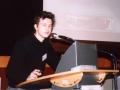 Moderator und Schauspieler Franz Dinda beim jugendmedienforum an der Uni Erfurt
