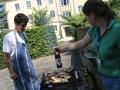 Grillen beim Jugendmedienforum an der Uni Erfurt