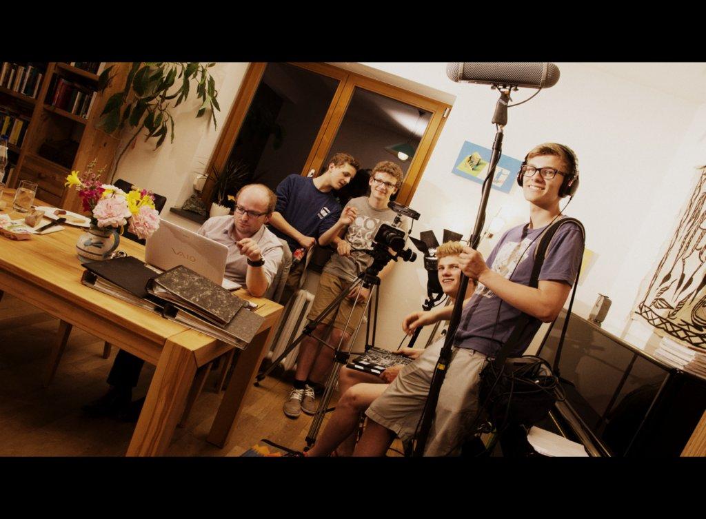 Szene eines Workaholics im Wohnhaus in Neudietendorf. Vielen Dank an Familie Vogel